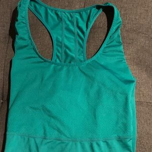 New Fabletics Green Workout top Racer back L